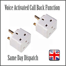 2x Voice Activated Wireless GSM Spy Bug SIM Mains Adapter Plug Listening Adaptor