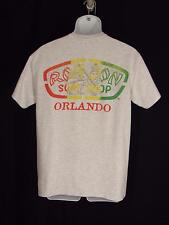 Ron Jon Surf Shop T Shirt M Gray Heather Orlando FL Lion Primary Colors