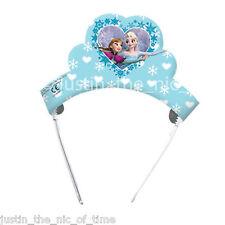 Disney Frozen Elsa Anna TIARAS Kids Girls Childrens Birthday Party Hats x6