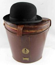 Handsome Vintage 1930S Stetson Felt Bowler Hat With Case!