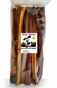 "12"" Inch JUMBO THICK BULLY STICKS Natural Dog Chews Treats USDA & FDA Approved"