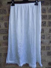 Vintage white nylon half slip skirt by WARNERS  /  nylon petticoat skirt L