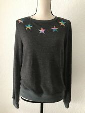 NEW WILDFOX SIZE XS ROAD TRIP SWEATER JUMPER BBJ RAINBOW STARS GRAY SWEATSHIRT