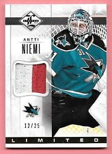 12/13 Panini Limited Materials #AN Antti Niemi 2 Color Prime Patch #12/25