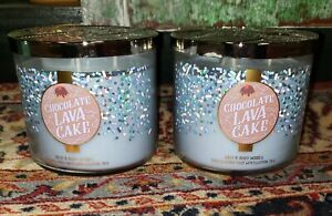 2 Bath & Body Works CHOCOLATE LAVA CAKE 3 Wick LARGE Candle's RETIRED SCENT 🍩