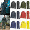 Waterproof Suit Jacket & Trousers Mens Womens Rainproof Packaway Rain Set S-2XL