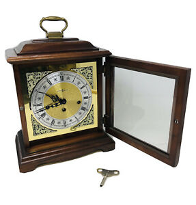 Vintage Howard Miller Carriage Mantle Clock 612-437 EXCELLENT Condition w/ Key