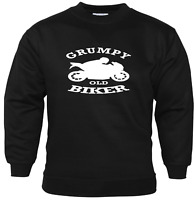 Grumpy Old Biker Mens Funny Sweatshirt Biker Slogan Motorbike Accessories