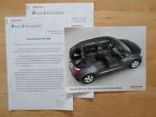 HONDA FR-V MPV Car of the Year orig 2004 UK Mkt Press Release + Photo - Brochure