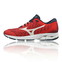 Mizuno Womens Wave Rider Waveknit 3 Running Shoes Trainers Sneakers Red Sports