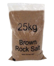 25KG BROWN ROCK SALT GRIT ICE SNOW WEATHER FOR STEPS DRIVEWAY PATHS