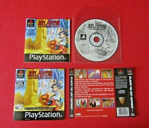 Atlantis The Lost Continent PS1 Game Disc Manual Inserts Only NO CASE Pal UK
