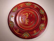 Vintage 13 3/4� Chip Carved Decorative Plate