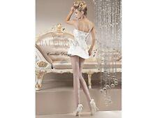 Ballerina Feinstrumpfhose 111 20DEN Weiß S-XL Nylons Hochzeit Strumpfhose Naht