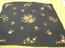 Finished Small Flowers/Navy Background Needlepoint Picture 14.75x15.25 Inches