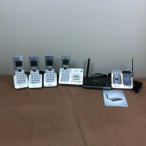 AT&T EL52303 Cordless Landline Phones Lot of 4 w/ Answering Machine Base