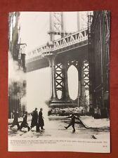 WILLIAMSBURG BRIDGE PHOTO ORIGINAL PRESS PHOTO NEW YORK