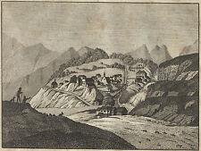BAD GASTEIN Ansicht schöner Kupferstich 1826 Original!