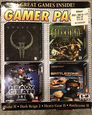 Lot of 3 GAMER PACK PC CD-ROM - Sealed QUAKE II + Heavy Gear II & Dark Reign 2