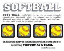 #40020  SRM Say It With Stickers Mini SOFTBALL Sports Ball