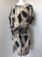 bnwt Allsaints Sonny Fuji dress.uk 8(fits 10-12)£168.black Pattern