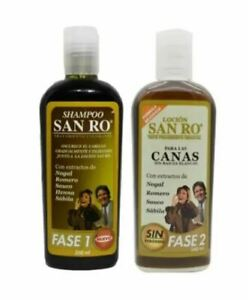 SAN RO Gray Hair LOTION Coloring Treatment Herbal Extracts 240ml { 2 Bottles }