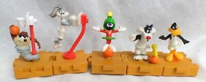 5 McD wb Looney Tunes Space Jam Attachables Warner Brothers '95 Bugs Taz Daffy +