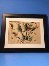 "BVS MMXII Deviant Art Bat Robin Bird Signed Art Print Batman 8"" x 10"" Gothic"