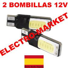 x2 Bombillas Canbus LED T10 W5W SMD Luz Blanca 6000K COB Luces de Estacionamient