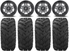 """Fuel Anza Beadlock Gm 14"""" Wheels 28"""" Reptile Tires Polaris Ranger Xp 9/1K"""