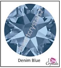 DENIM BLUE Swarovski 34ss 7mm Crystal Flatback Rhinestones 2058 Xilion 6 pieces