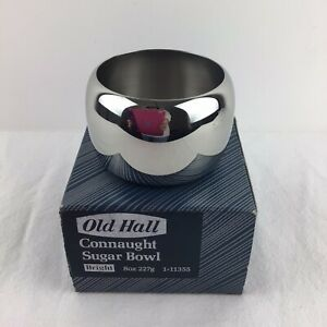 Old Hall Connaught Sugar Bowl Stainless Steel Bright 8oz Shiny Boxed