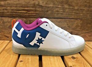 DC Shoes Court Graffik SE - White/Black/Cyan - Men's Skateboard Shoes - 300927