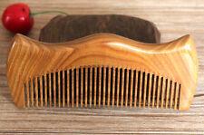 venditore UK! Artigianato Verde Sandalo Legno M Forma Pettine Regalo 12.5 cm