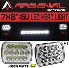 7x6 LED Headlights HID Light Bulbs Crystal Clear Sealed Beam Headlamp 1 PC