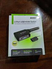IOGEAR GSC22U 2-Port USB KVM Switch with Built-in Bonded Cable design #GCS22U