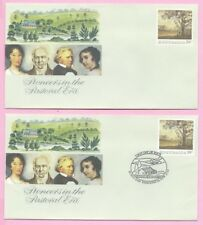AUSTRALIA 1989 PAIR of PSE's - FDC & Mint - PIONEERS in the PASTORAL ERA - Shs