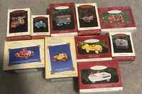 Hallmark Nostalgic Trains Cars Boats Ornaments Lot of 10 Noduplicates Bundle Lot