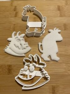 Gruffalo 3D set of  2 Cookie Cutters For Biscuits, Sugar paste