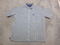 VINTAGE Tommy Hilfiger Button Up Shirt Adult Extra Large Blue Yellow Plaid 90s
