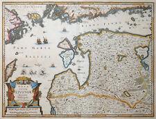 NOVA TOTIUS LIVONIAE JANSSONIUS LIVLAND LITAUEN ESTLAND LETTLAND TALLINN 1638