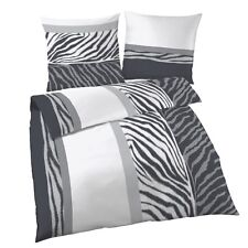 IDO Renforcé Bettwäsche 2tlg. weiß schwarz Bettbezug 135x200 Cm