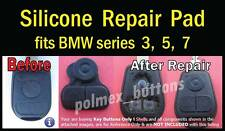 fits BMW remote key Fob series 3, 5, 7 - Silicone key Buttons Pad replacement