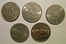 SALE !! 5 coins American State quarters USA 25 cent gift idea collectible