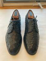 OSTRICH,  BLACK MEN'S Shoe's, size 8.5, CUSTOM MADE in Italy, Mannina Frienza