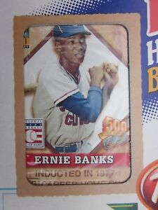 2001 Topps Post Cereal Box with Ernie Banks Frank Robinson Baseball Cards Sealed