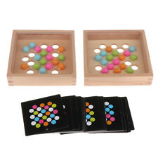 Montessori Wooden Educational Toys for Kids Early Learning Color Match Game