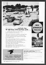 1957 Eagle Signal Traffic Lights at Young Lumber Waterloo Iowa photo promo ad