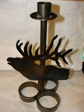 Rockey Mountain Elk Foundation Elk Candle Holder. Hand Made
