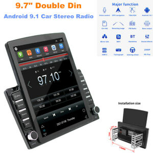 """9.7"""" Double Din Car Stereo Vertical Screen Car Radio Android 9.1 GPS Navi WiFi"""